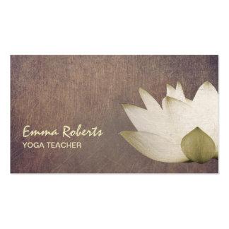 Vintage Lotus Elegant Yoga Teacher Business Card