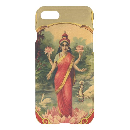 Vintage Lotus Flower Hindu Goddess Lakshmi Uncommon Iphone Case