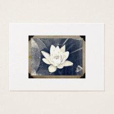 Vintage Lotus Photograph  Business Card at Zazzle