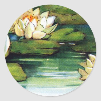 Vintage Lotus Stickers