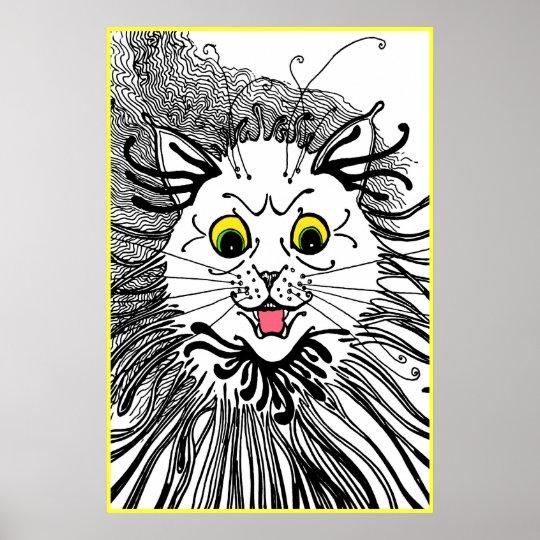 09921036f13 Vintage Louis Wain Art Nouveau Cat Poster