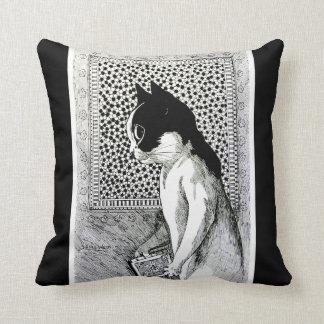 Vintage Louis Wain Book Lover Cat Art Cushion Pillows