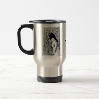 Vintage Louis Wain Book Lover Cat Art Travel Mug