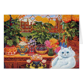 Vintage Louis Wain Botanist Cat Art Card