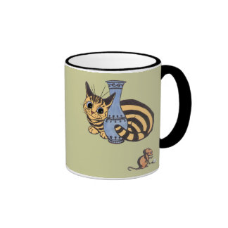 Vintage Louis Wain Cat and Mouse Gift Mug
