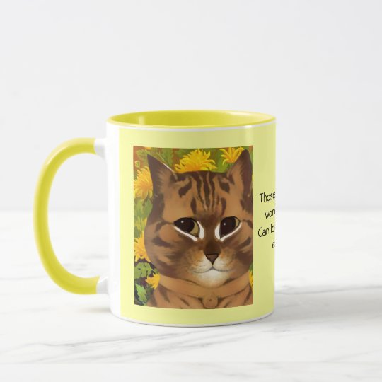 Vintage Louis Wain Cat Quote Mug