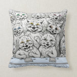 Vintage Louis Wain Cats at the Theatre Cushion Pillow