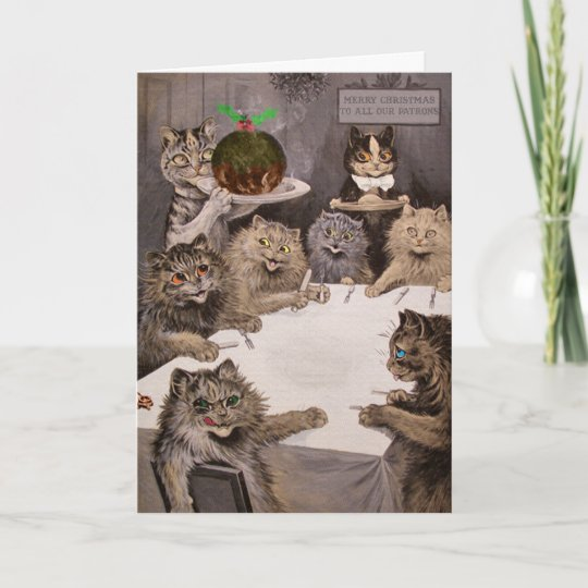Vintage louis wain cats christmas party card zazzle vintage louis wain cats christmas party card m4hsunfo