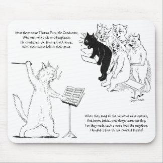 Vintage Louis Wain del estribillo del gato que con Tapetes De Ratones