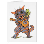Vintage Louis Wain Jazzy Musical Cat Card