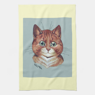 Vintage Louis Wain Orange Tabby Cat Kitchen Towel
