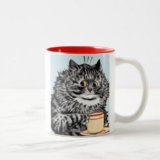 Vintage Louis Wain Teacup Cat Art Gift Mug