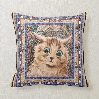 Vintage Louis Wain Wallpaper Cat Cushion Pillows