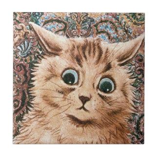 Vintage Louis Wain Wallpaper Cat Gift Tile