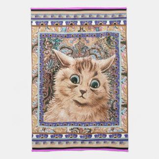 Vintage Louis Wain Wallpaper Cat Kitchen Towel