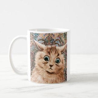 Vintage Louis Wain Wallpaper Cat Mug