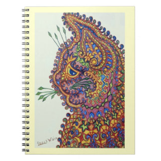 Vintage Louis Wain Wallpaper Cat Notepad Note Book