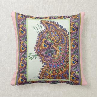 Vintage Louis Wain Wallpaper Cat Throw Pillow