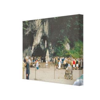 Vintage Lourdes, Grotto Canvas Print