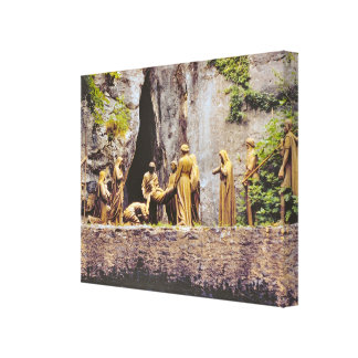 Vintage Lourdes, Stations of the Cross Canvas Print