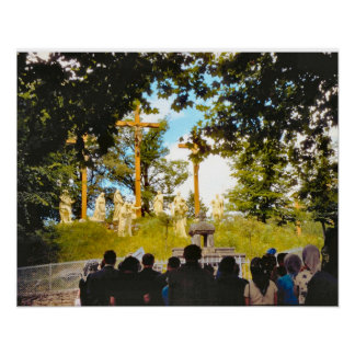 Vintage Lourdes, Stations of the Cross Print