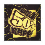 Vintage Love 50's Cafe - Wrapped Canvas