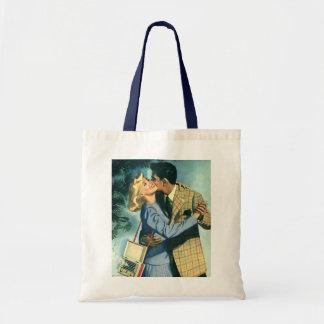 Vintage Love and Romance, Christmas Dance Tote Bag