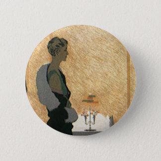 Vintage Love and Romance, Couple Elegant Dinner Button