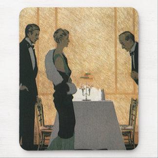 Vintage Love and Romance, Couple Elegant Dinner Mouse Pad