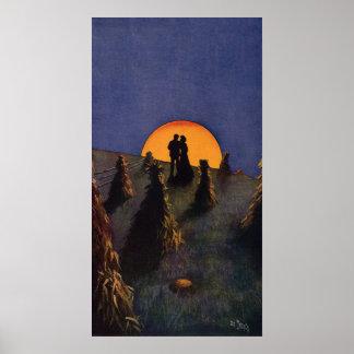 Vintage Love and Romance, Harvest Moonlight Poster