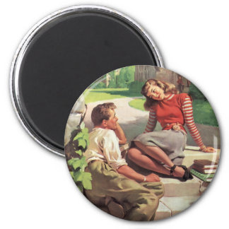 Vintage Love and Romance, High School Sweethearts Magnet