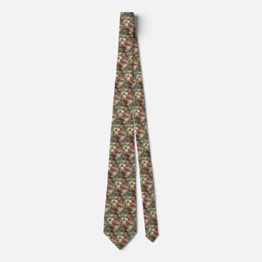 Beach Themed Vintage Love and Romance, High School Sweethearts Neck Tie