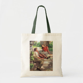 Vintage Love and Romance, High School Sweethearts Tote Bag