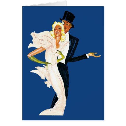 Vintage Love and Romance, Modern Wedding Couple Card