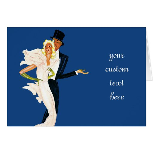 Vintage Love and Romance, Modern Wedding Couple Greeting Card