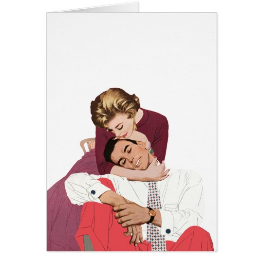 Vintage Love and Romance, Newlyweds in Pink Card