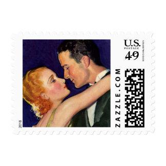 Vintage Love and Romance, Retro Hollywood Movies Postage