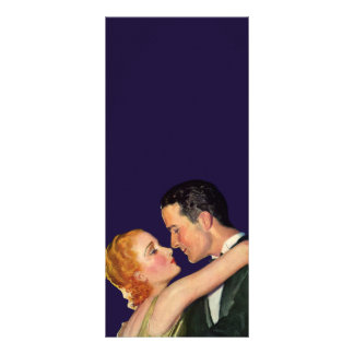 Vintage Love and Romance, Retro Hollywood Movies Rack Card