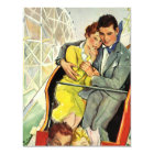 Vintage Love and Romance Roller Coaster Invitation