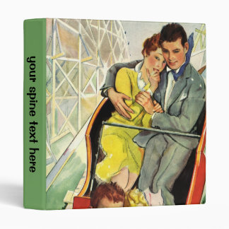 Vintage Love and Romance, Roller Coaster Ride 3 Ring Binder