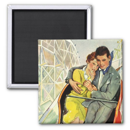 Vintage Love and Romance, Roller Coaster Ride Magnet
