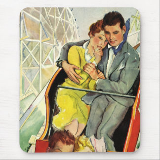 Vintage Love and Romance, Roller Coaster Ride Mouse Pad