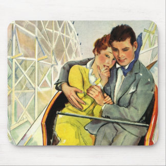 Vintage Love and Romance, Roller Coaster Ride Mousepad