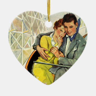 Vintage Love and Romance Roller Coaster Ride Ornament