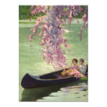 Vintage Love and Romance, Romantic Canoe Ride Invites