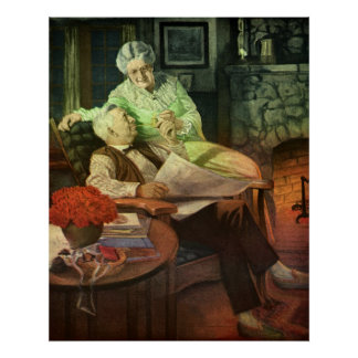 Vintage Love and Romance; Romantic Grandparents Poster