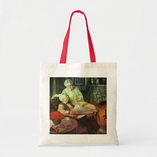Vintage Love and Romance; Romantic Grandparents Tote Bag