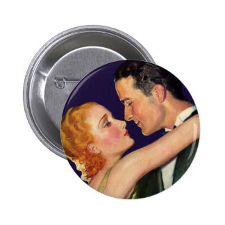 Vintage Love and Romance, Romantic Hollywood 2 Inch Round Button