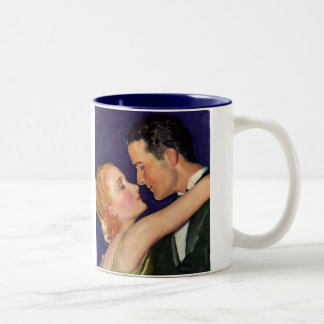 Vintage Love and Romance, Romantic Hollywood Two-Tone Coffee Mug