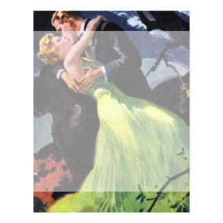 Vintage Love and Romance, Romantic Kiss Letterhead